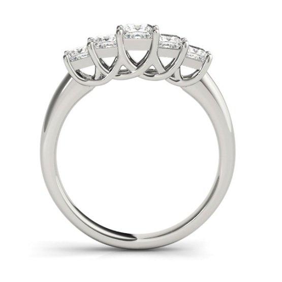Five Stone Graduated Diamond Trellis Anniversary Ring