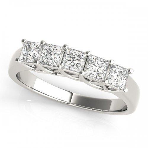 5 Stone Diamond Anniversary Ring