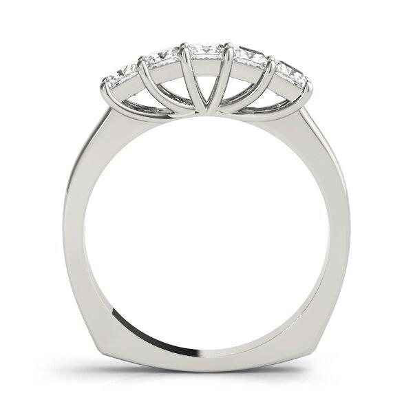 5 Stone Trellis Euro Shank Anniversary Ring