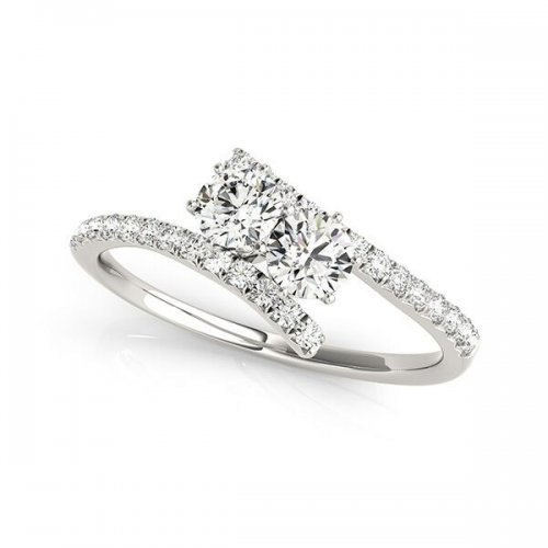 Two Stone Round Diamond Ring