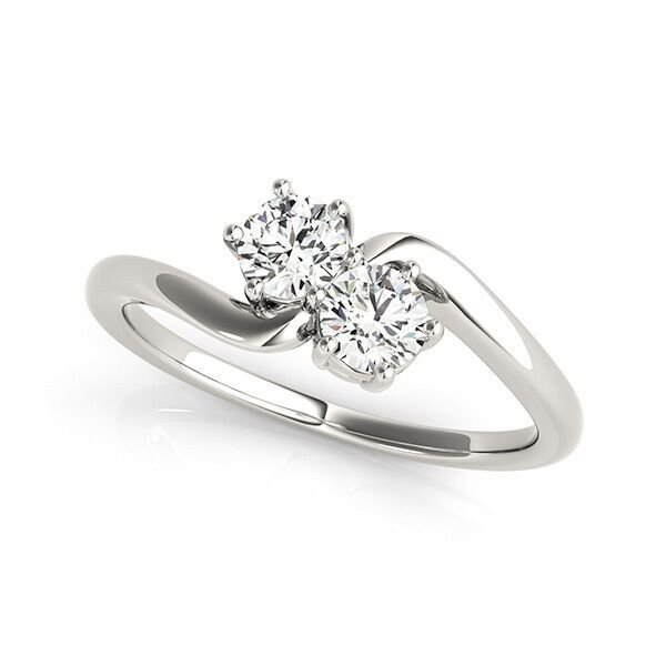 Two Stone Solitaire Diamond Ring