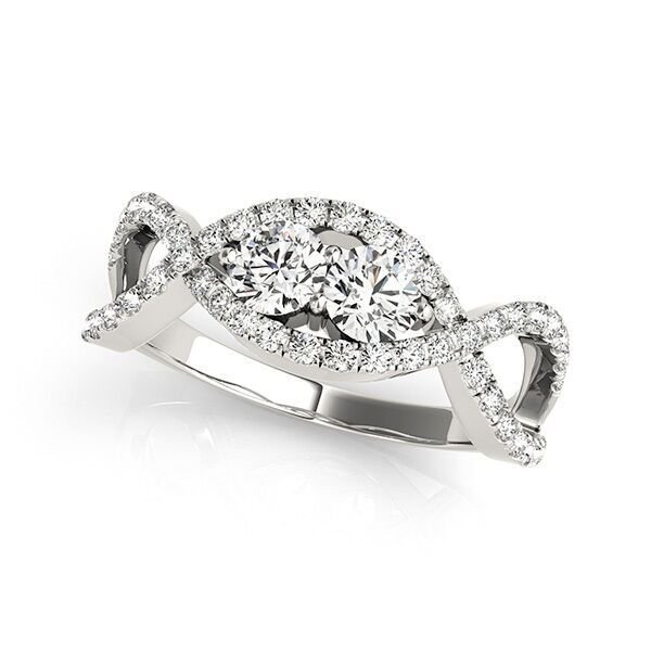 Two Stone Diamond Anniversary Ring