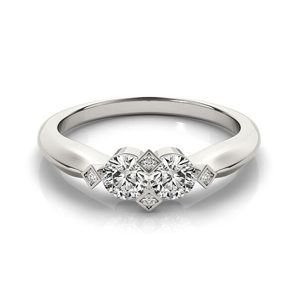Two Stone Diamond Solitaire Engagement
