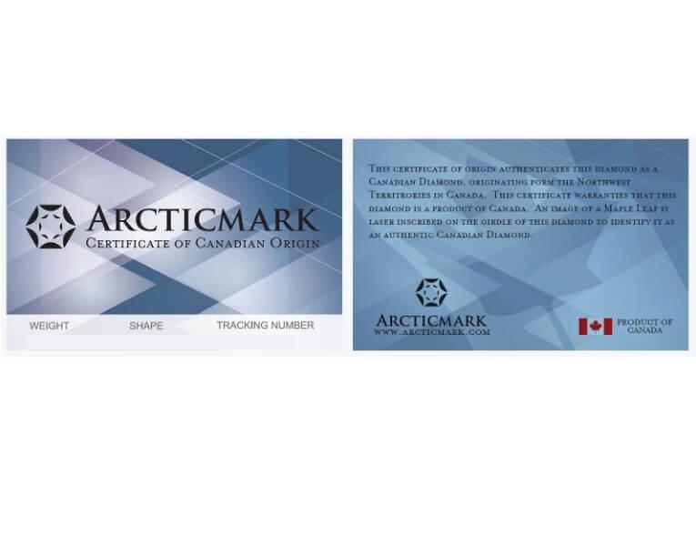 Arcticmark Certificate Sample