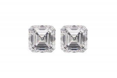 Asscher Cut Diamond Pair