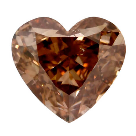 Fancy Brown Orange Heart 1