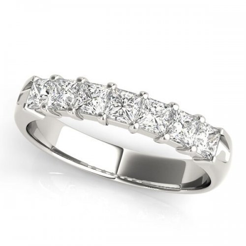Princess Cut Shared Prong Anniversary Ring