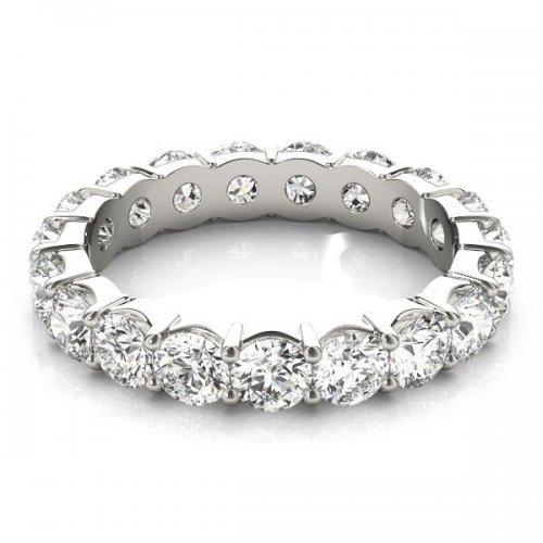 Round Cut Diamond Shared Prong Eternity Ring