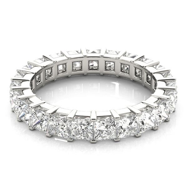 Princess Cut Diamond Shared Prong Eternity Ring