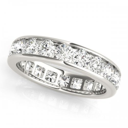 Channel Set Round Diamond Eternity Ring