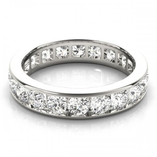 Channel Set Round Diamond Eternity Ring