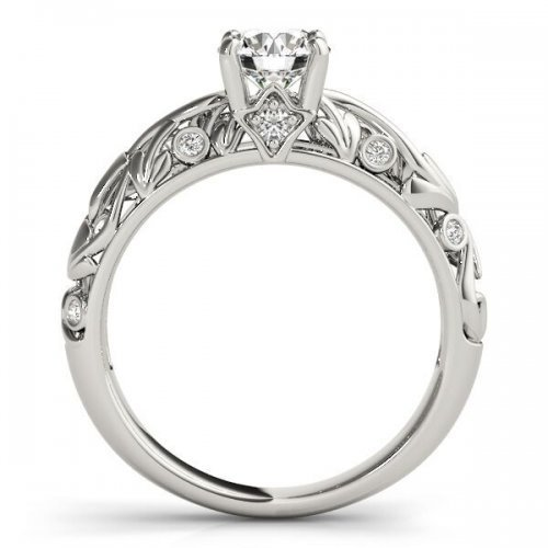 Vintage Style Solitaire Engagement Ring