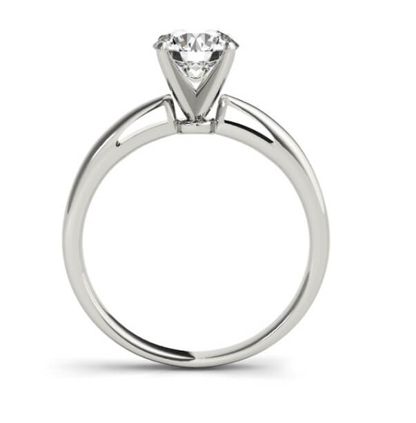 Tapered Diamond Solitaire Engagement Ring