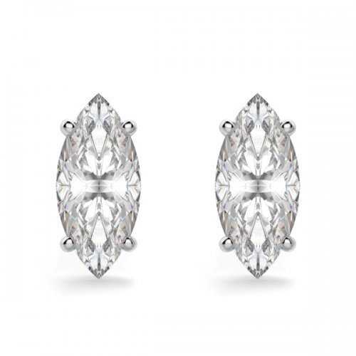 Marquise Cut Diamond Stud Earrings