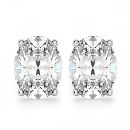 Oval Cut Diamond Stud Earrings