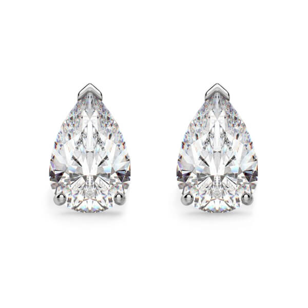 Pear Shaped Diamond Stud Earrings
