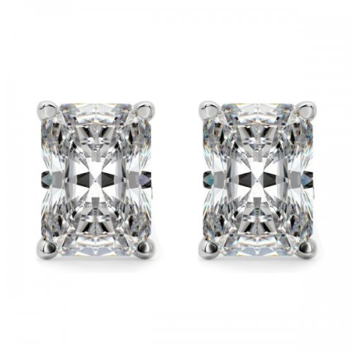Radiant Cut Diamond Stud Earrings