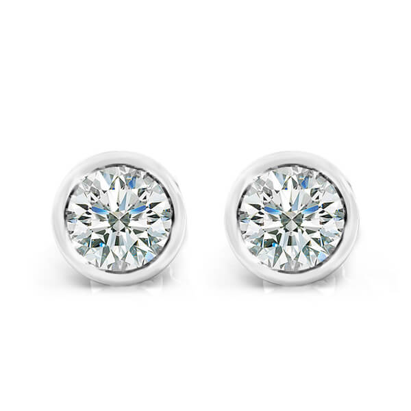 diamond s gold bezel white kt set bloomingdale earrings stud roberto coin fpx product shop