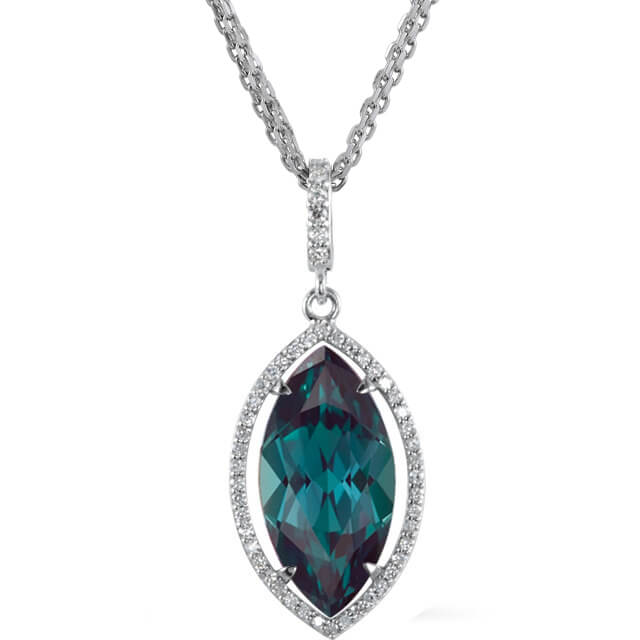 Marquise Faceted Chatham Created Alexandrite