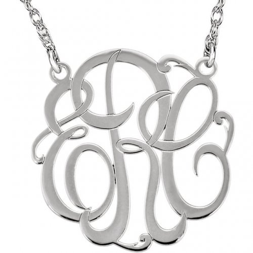 33 Letter Script Monogram Necklace