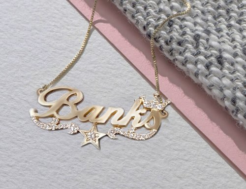"Corporate Jewellery: Personalized Diamond Accent Necklace – ""Banks"""