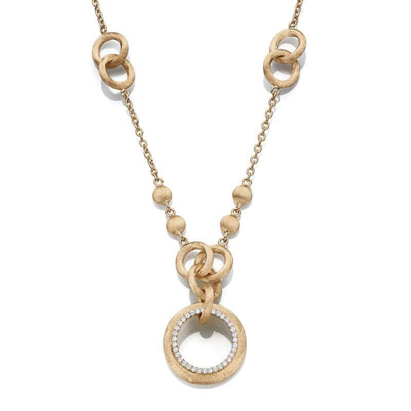 Italian Inspired Multi Rings Necklase