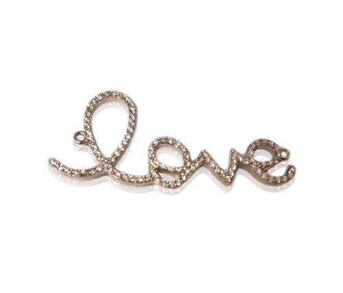 Personalized Diamond Accent Love Pendant Necklace
