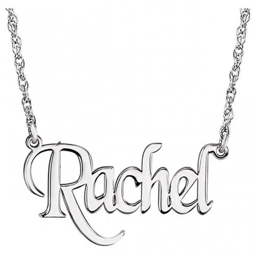 Nameplate Block Monogram Necklace
