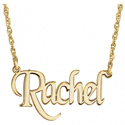 Nameplate Block Monogram Necklace Y 1