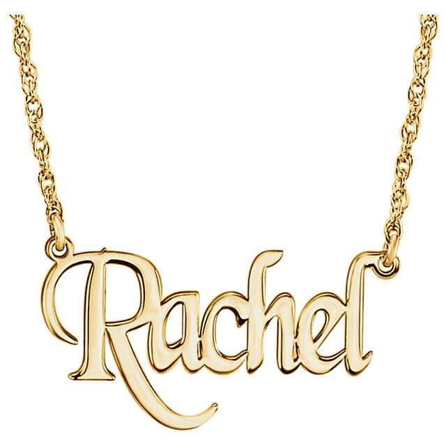 Nameplate Block Monogram Necklace Y 1