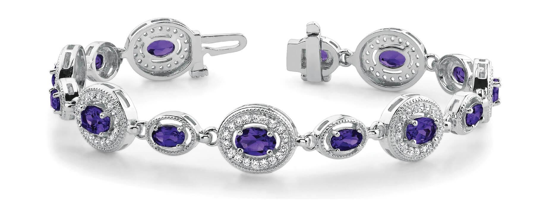 Purple Sapphire Bracelet