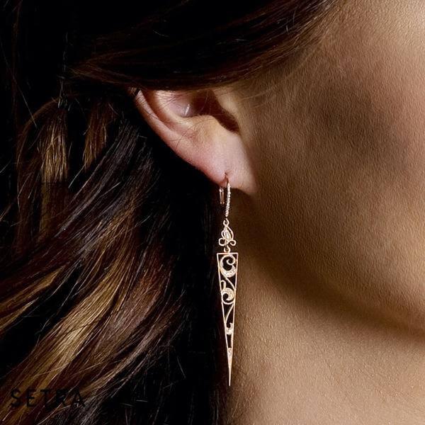 Onyx Diamond Fashion Chandelier Earrings