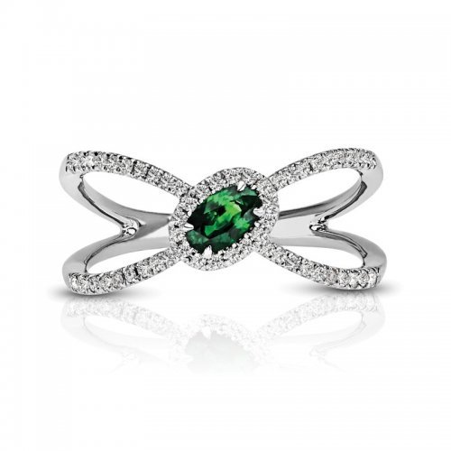 Emerald Diamond Fashion Ring