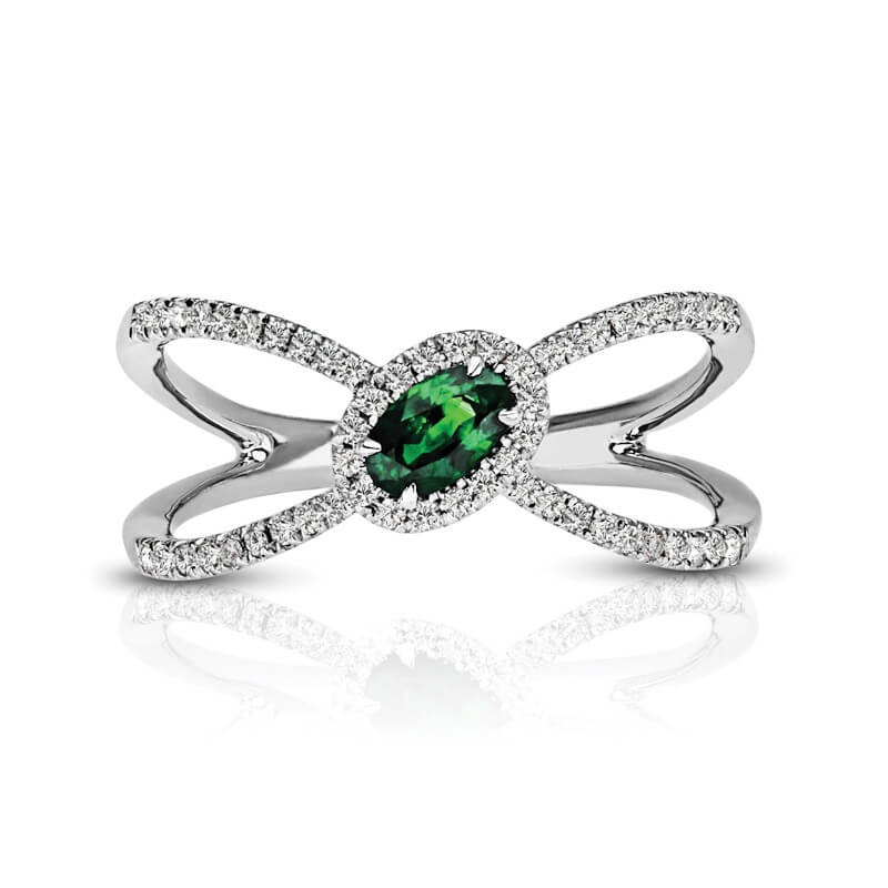 Emerald Diamond Fashion Ring