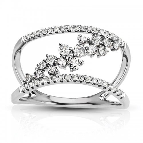 Flower Style Diamond Fashion Ring