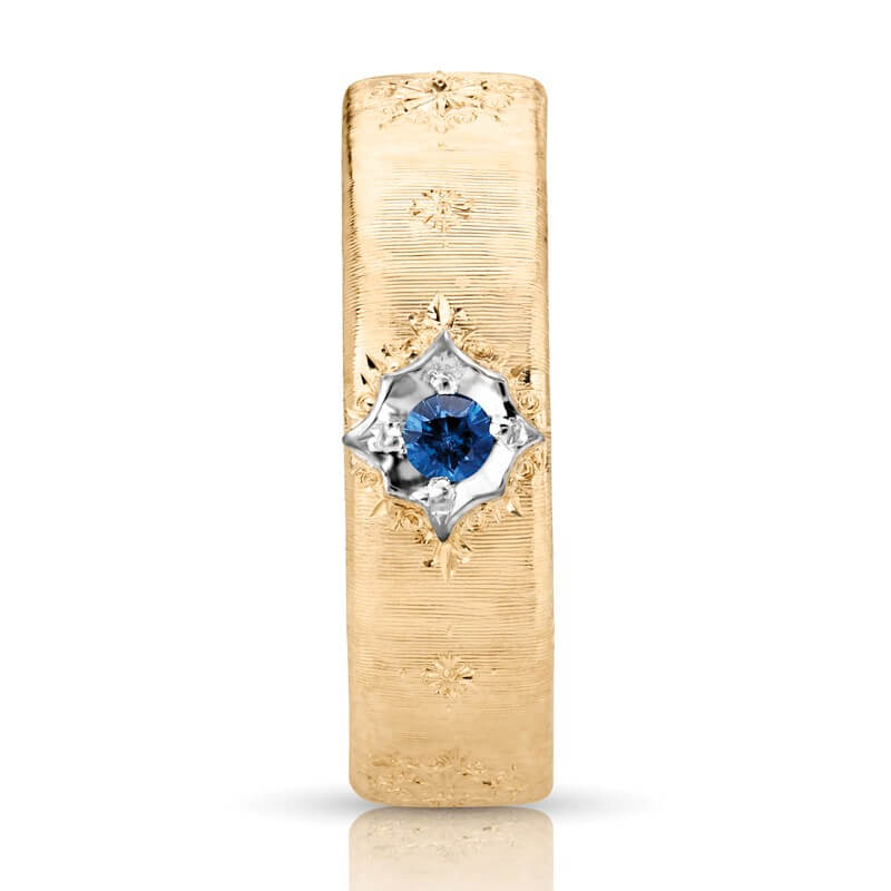 Buy Italian Style Blue Sapphire Wedding Ring