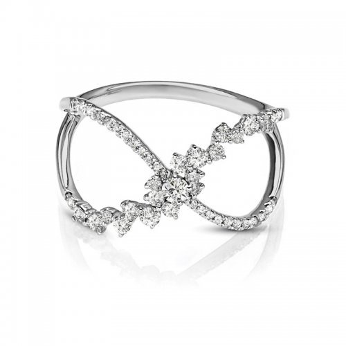 Open Concept Diamond Fashion Ring
