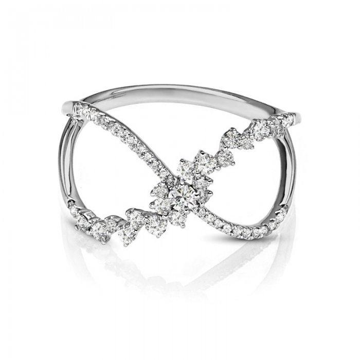 Open Concept Diamond Fashion Ring