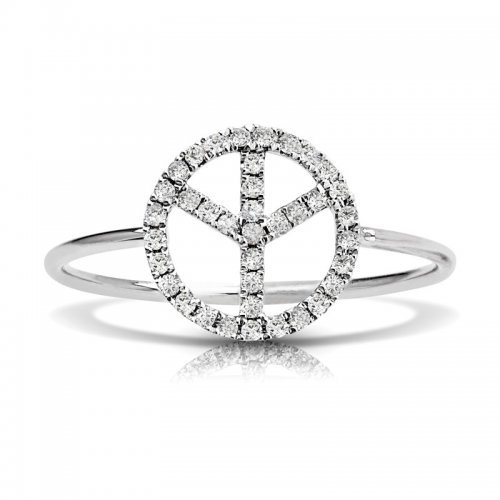 Piece Symbold Diamond Ring