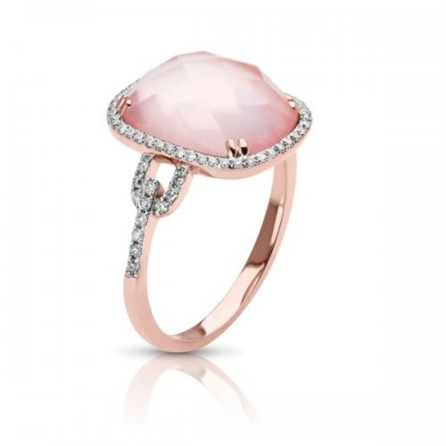 Pink Quartz Diamond Fancy Ring4