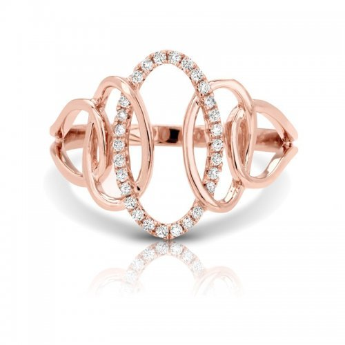 Rose Gold Right Hand Fancy Ring