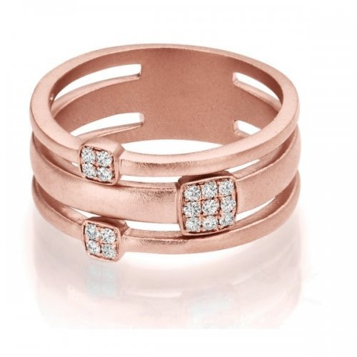 Rose Gold Matte Finish Fashion Ring