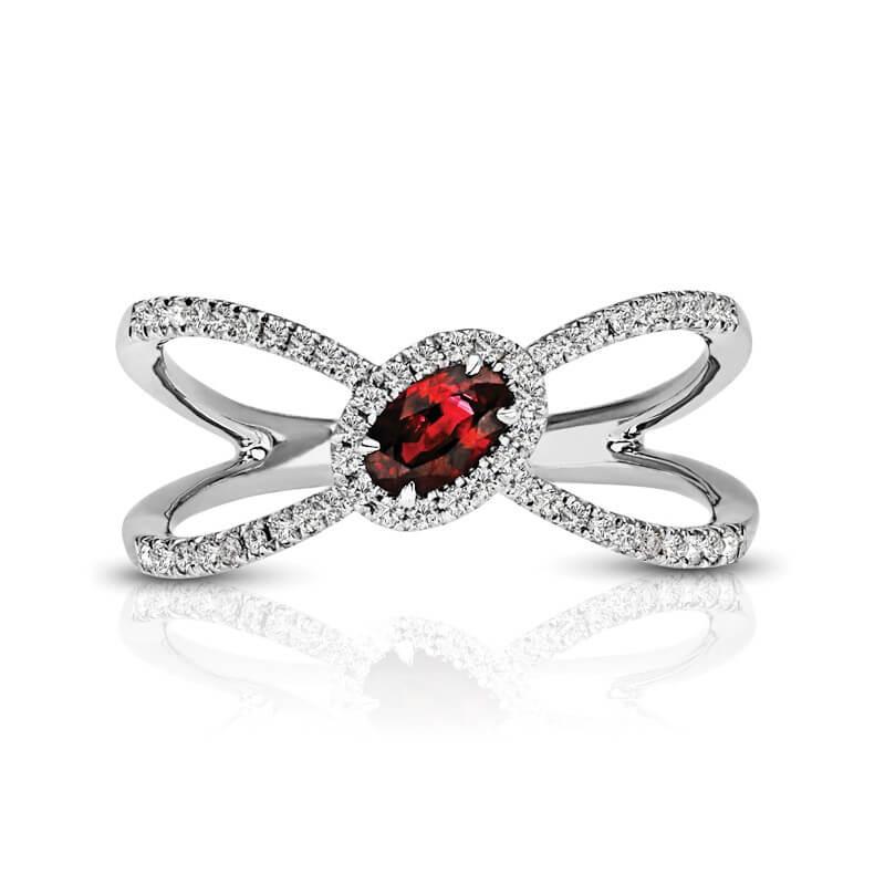 Ruby Diamond Fashion Ring