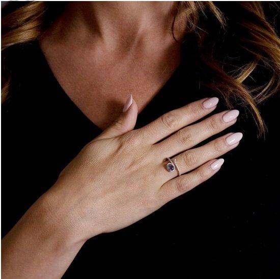 Sapphire Diamond Fancy Ring