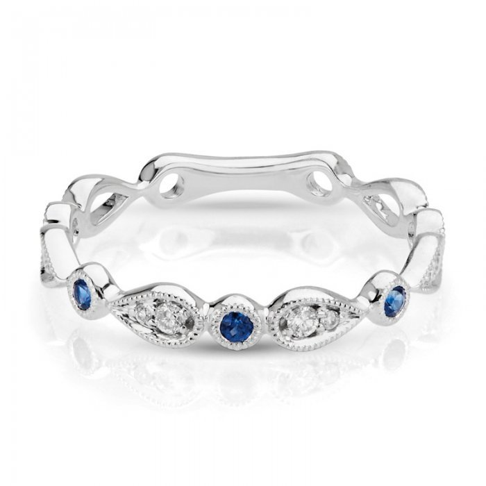 Sapphire Diamond Fancy Wedding Band