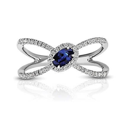 Sapphire Diamond Fashion Right Hand Ring