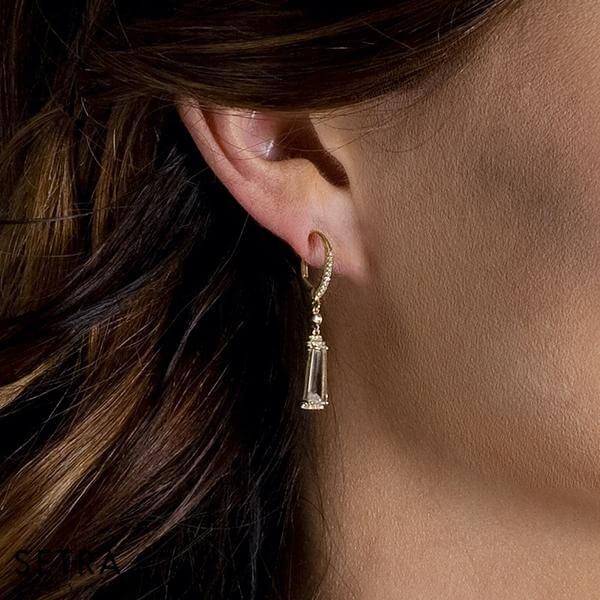 Topaz Diamond Fashion Earrings