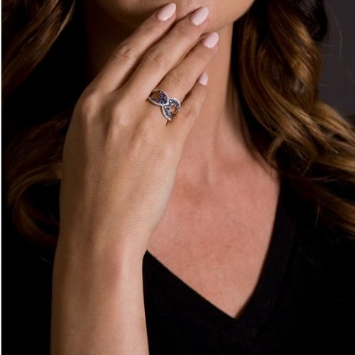 Vintage Diamond Sapphire Fancy Ring