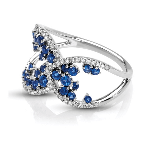 Vintage Diamond Sapphire Fashion Ring
