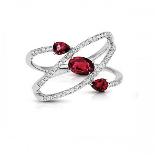 Vintage Ruby Diamond Cocktail Ring